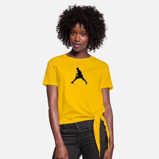 Table T-Shirts - Tischtennisspieler - Knotted T-Shirt sun yellow