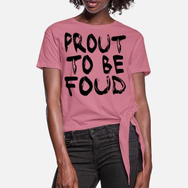 Party MULTI COLOR VECTOR - PROUD TO BE FOUT - Vrouwen Geknoopt shirt