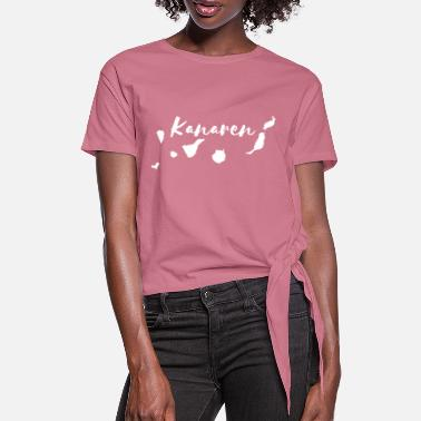 Canary Islands - Women's Knotted T-Shirt