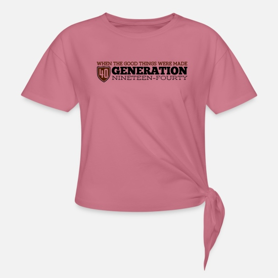 Birthday T-Shirts - Good Generation 40 - Knotted T-Shirt mauve