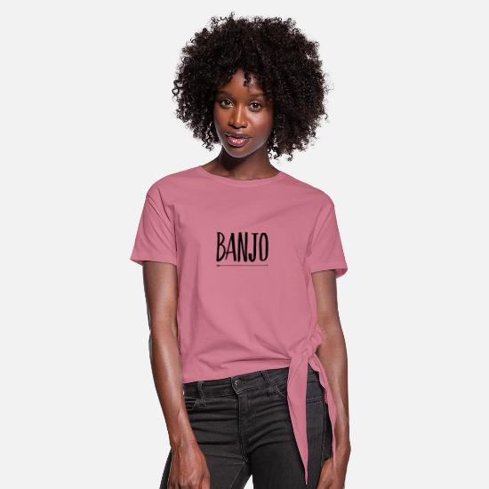 Electro T-Shirts - banjo - Women's Knotted T-Shirt mauve