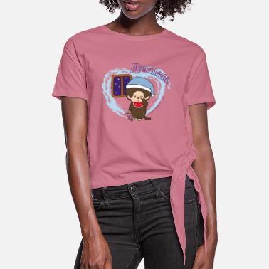 Monchhichi overslept with sleepyhead - Knotted T-Shirt