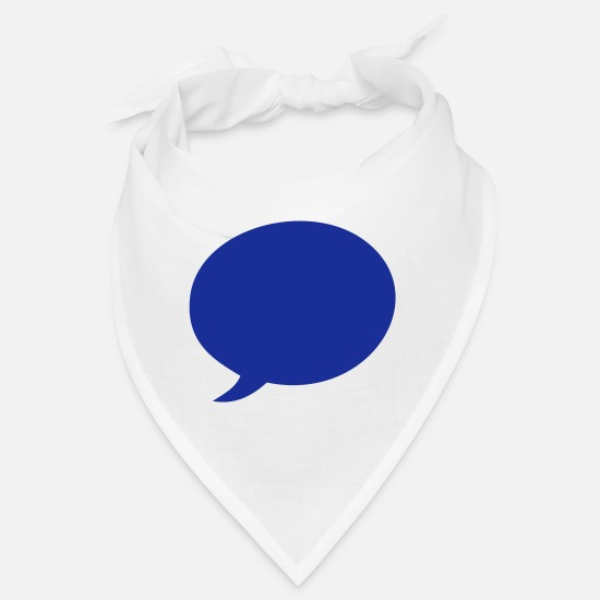 Miscellaneous Bandanas - Speech balloon - Bandana white