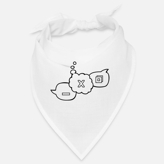 Server Bandanas - Computer speech balloons - Bandana white