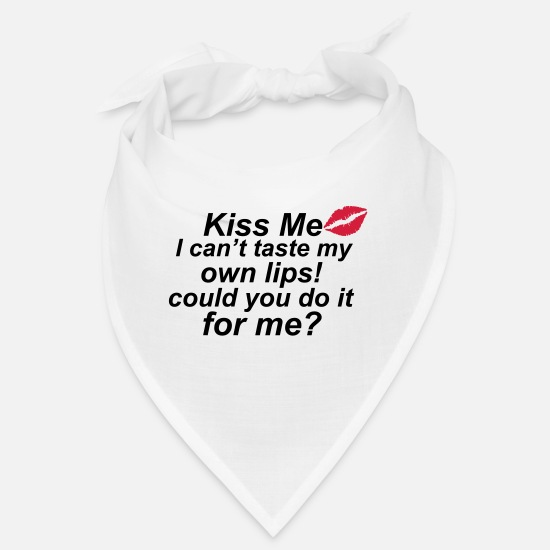 Provocation Bandanas - Kiss Me - Bandana white