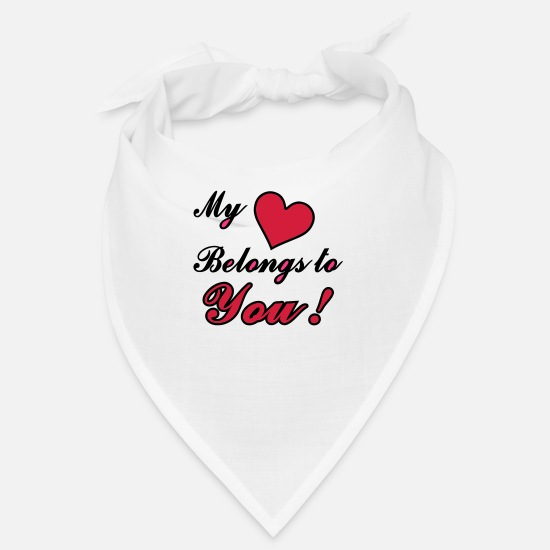 S'aimer Bandanas - My Heart Belongs to You ! - Bandana blanc