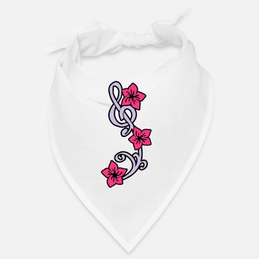 Flores Music Key Flower - Bandana