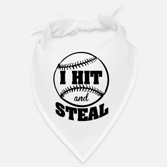 Cool Bandanas - I hit and steal - Baseball - Bandana white