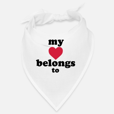Marié my heart belongs to + text - Bandana