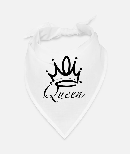 Love Bandanas - Queen - Queen - Bandana white