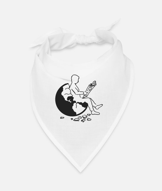 Earth Bandanas - Earth - Bandana white