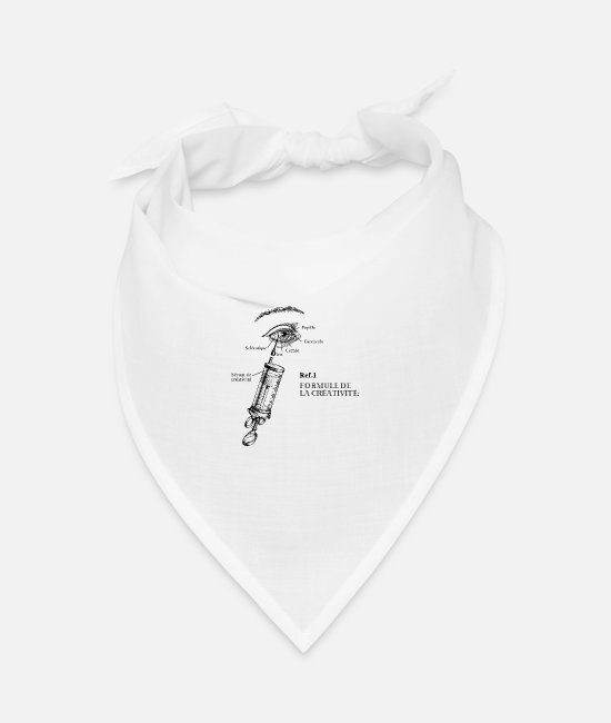 Retro Bandanas - Formula of creativity - Bandana white