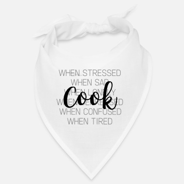 Hobby Cook Cooking cook gift hobby profession - Bandana