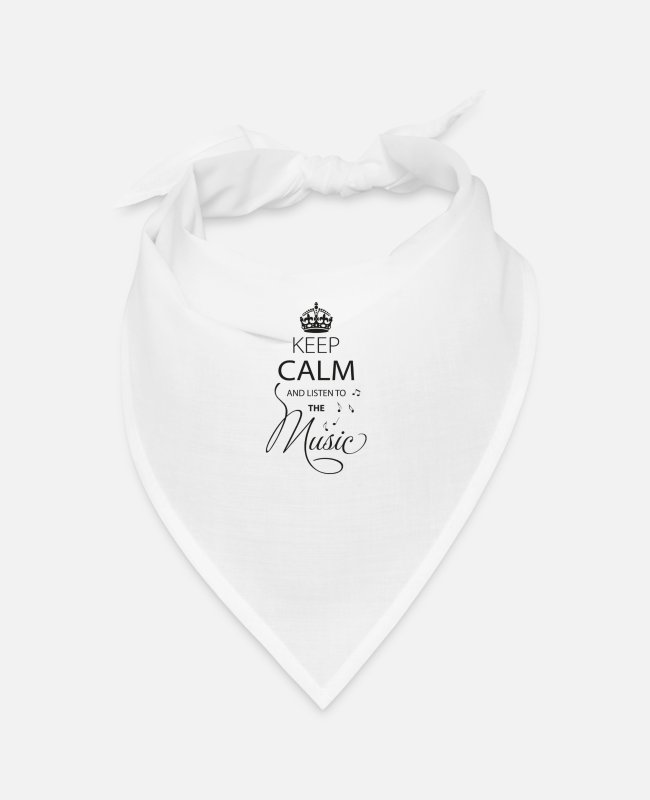 Keep Calm Bandanas - Keep Calm And Listen To The Music - Bandana white