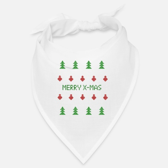 Ugly Christmas Sweater Bandanas - Ugly Christmas Sweater Reindeer - Bandana white