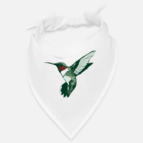 Tropical Bandanas - humming-bird - Bandana white