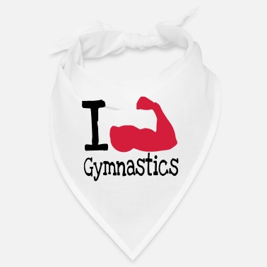 I love Gymnastics_red - Bandana