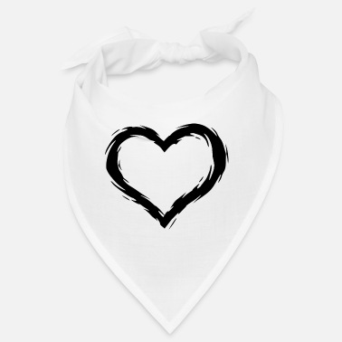 Hair Brush Heart Design Black Brush - Bandana