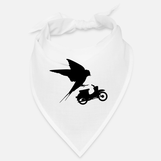 Motorcycle Bandanas - Two swallow - Bandana white