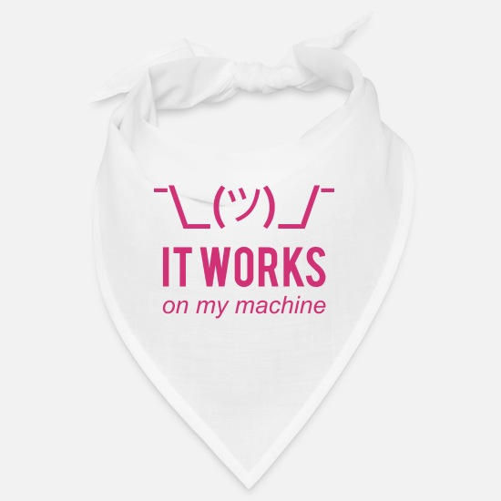 Coder Bandanas - It works on my machine Funny Developer Design - Bandana Weiß