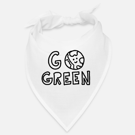 Fridays For Future Bandanas - Go Green - Bandana Weiß