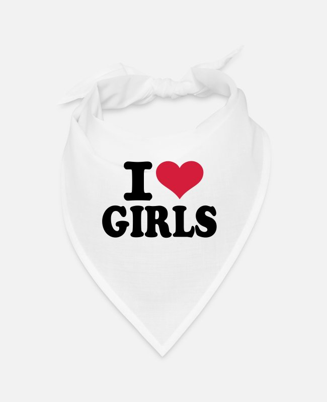 Love Bandanas - Girls - Bandana white