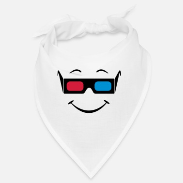 Blue Screen Smiley 3D glasses - Bandana
