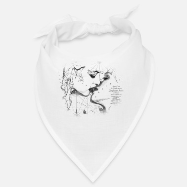 Cupid Kissing girls map 221 by Bill d'Amacha - Bandana