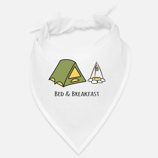 Bed And Breakfast Bandanas - Bed & Breakfast - Bandana white