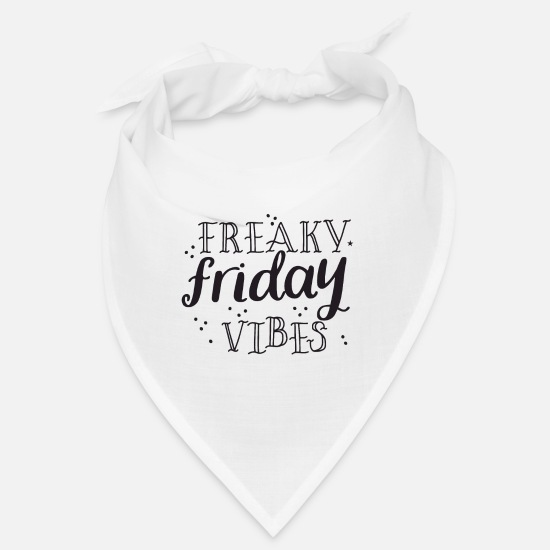 Boss Bandanas - Freaky friday vibes - Bandana white