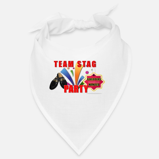 Bachelor Party Bandanas - Team Stag Party - Bandana white