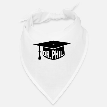 Genius Graduation Party - PhD - Gift - Dr. phil. - Bandana
