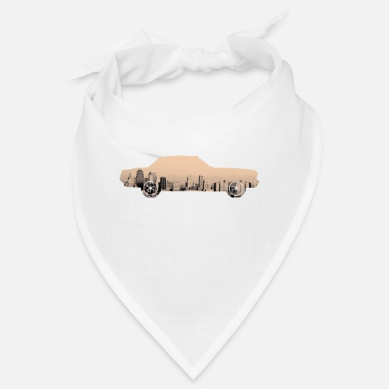 Rap Bandanas - Urban Muscle Car - Bandana white