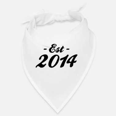 Established established 2014- naissance bébé - Bandana