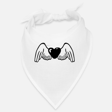 Serce Wings Heart Love - Bandana