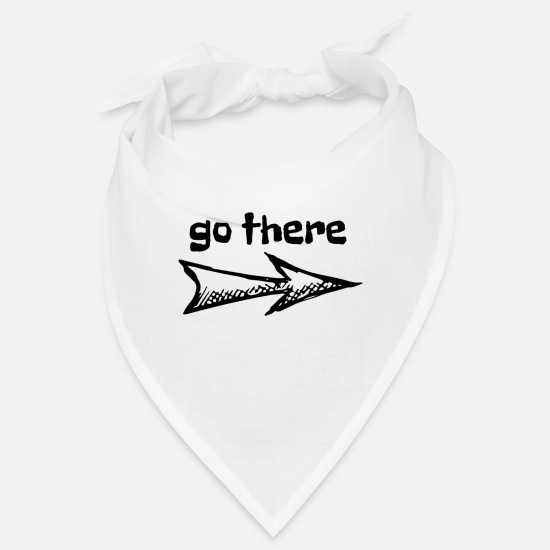 Gift Idea Bandanas - go there - Bandana white