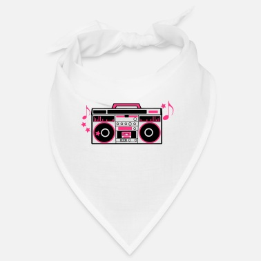 Boom Box 80s cassette player dj boom box with funky musical - Bandana