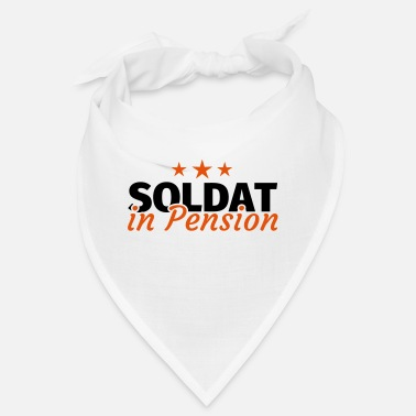 Pension Soldat in Pension Ruhestand Rente - Bandana