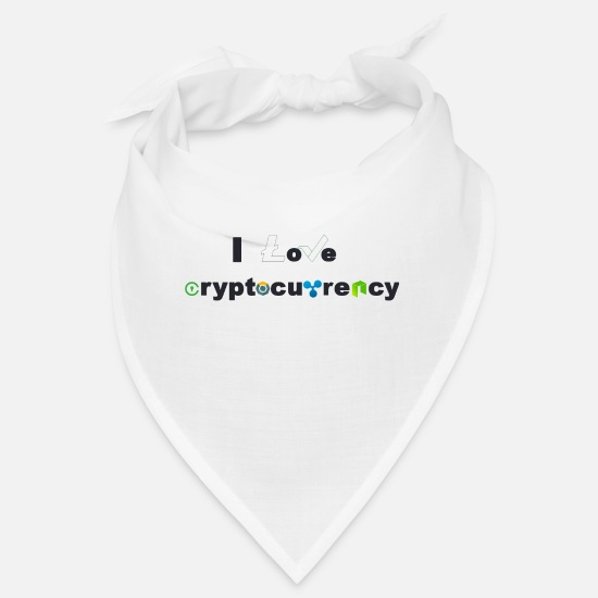 Bitcoin Bandanas - I love cryptocurrency II - Bandana Weiß