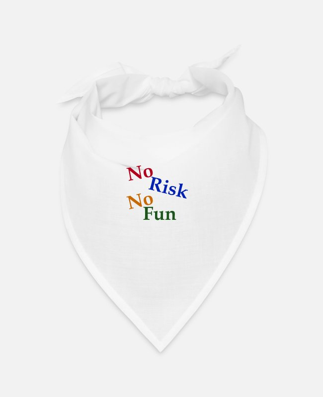 Coming Of Age Bandanas - No Risk No Fun - Bandana white