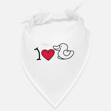 Iheart I love ducks - Bandana
