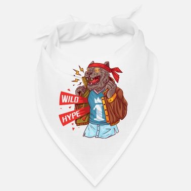 Masculinity Wolf with current attributes of masculinity - Bandana