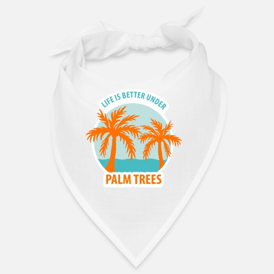 Meer Bandanas - Life is better under PALM TREES - Bandana Weiß