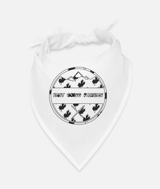 Mountains Bandanas - Easy Going Fashion Logo Canada Style Gift Idea - Bandana white