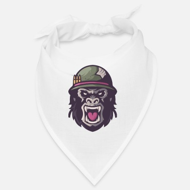 Aggressiv War Gorilla Scream Aggressive Upset - Bandana