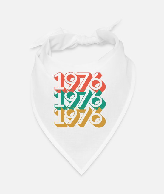 Christmas Bandanas - 1976 birthday 44 years retro vintage 76 - Bandana white