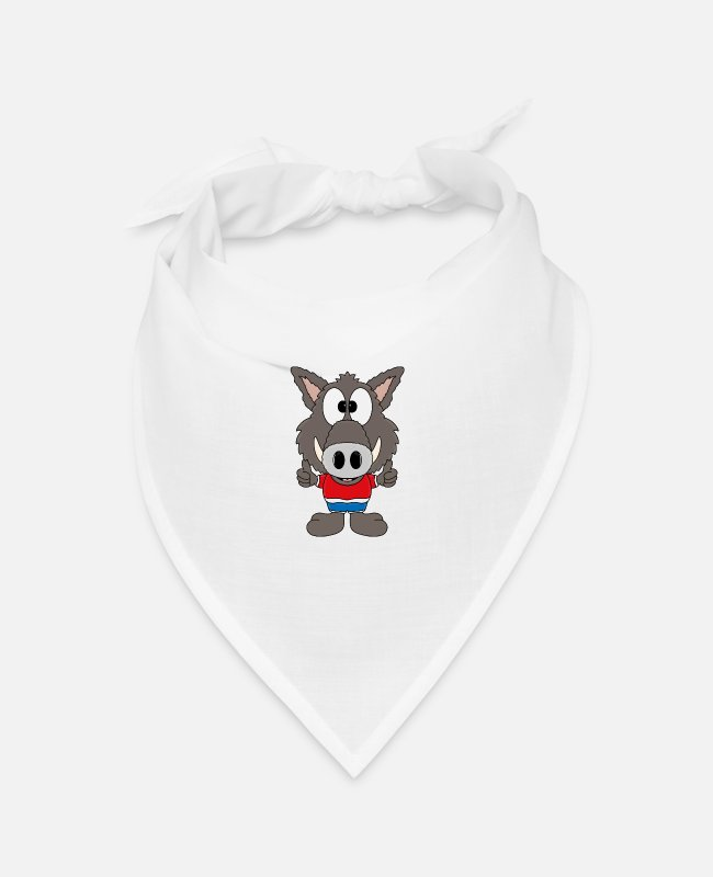Pregnancy Bandanas - Wild boar - animal - children - baby - gifts - Bandana white