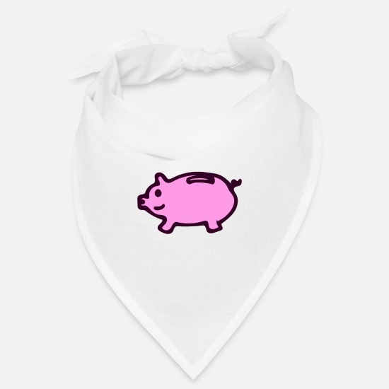 Money Bandanas - piggy bank - Bandana white
