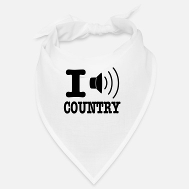 Country I music country / I love country - Bandana