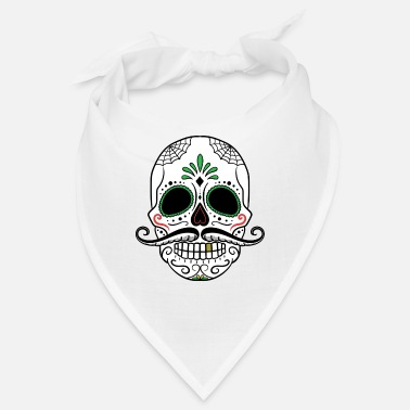 Day Of The Dead Skull Day of the Dead Halloween gave - Bandana